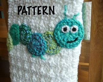 PATTERN Caterpillar Crochet Blanket Pattern
