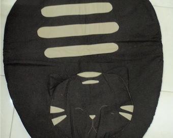 Handmade Brown And Grey Tabby Cotton Mat