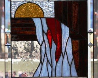 Nothing But The Blood Stained Glass Panel