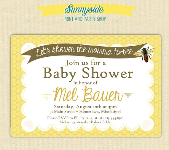 what will baby bee shower invitation printable invitation vintage