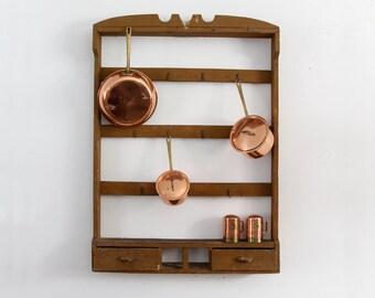 antique kitchen rack, primitive hanging shelf