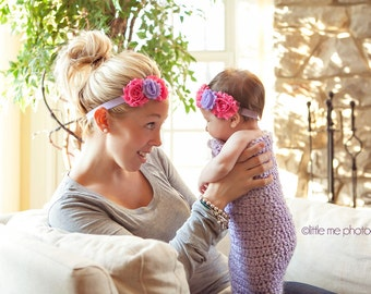 Mommy and Me Matching Headbands.....Great Baby Gift.....Color Choices.....Girls of All Ages
