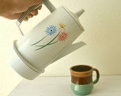 Percolator Coffee Maker Vintage 1970s Poly Perk White Automatic Electric by Regal