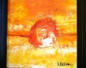 NARANJA original encaustic painting