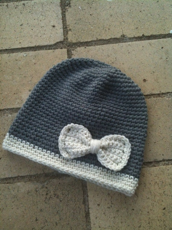 Crochet Bow Hat
