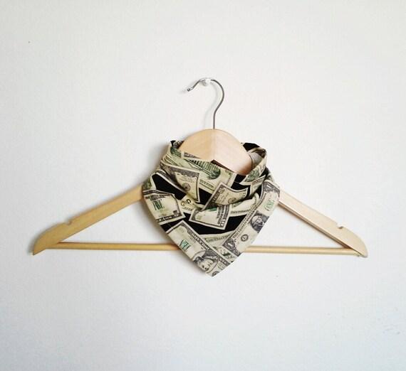 Money Baby Bibdana, Reversible Bandana Bib for Baby