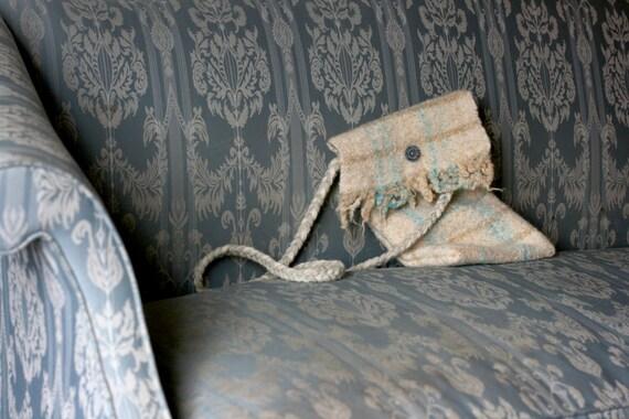 Hand woven wool purse NO. 1
