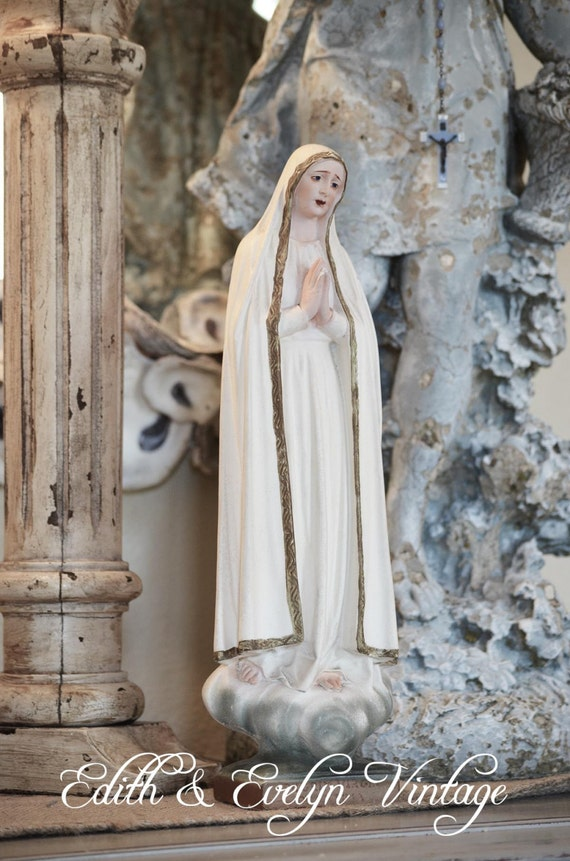 Vintage Our Lady Fatima Statue