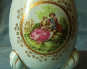 INARCO Japan Egg Planter Vase in Blue - Handpainted