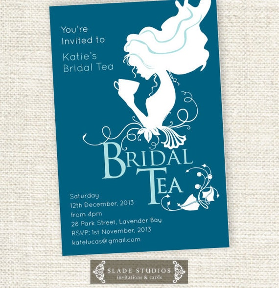 Bridal tea invitations vintage style bridal shower kitchen for Bridal shower kitchen tea ideas fashion