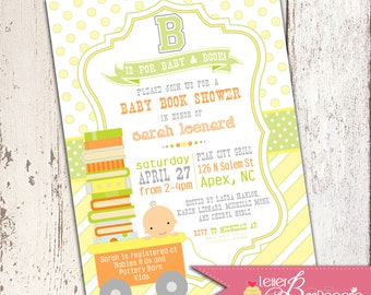 B is for Baby Book Shower Invitation - DIY Printable File