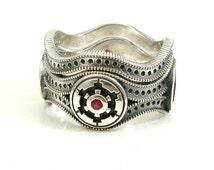 Star Wars Wedding Ring Set - Engagement Wedding Ring - Sterling Silver