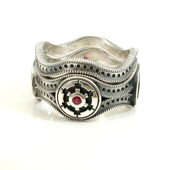 Star Wars Wedding Rings: Star Wars Wedding Ring Set Engagement By SwankMetalsmithing