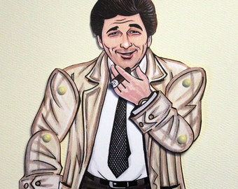 Columbo Articulated Paper Doll - Inspired by Peter Falk