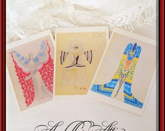 Folies Bergère Prints / Greeting Cards / Costume Design Vintage Moulin Rouge / Collectible Theater Memorabilia / Commercial Graphics / Stage