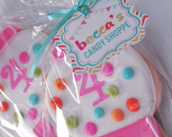 DIY printable party tags / party circles - candy shoppe