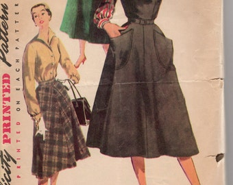 1950's Misses' Jumper, Blouse and Skirt Simplicity 4838 Size 14 Bust 32