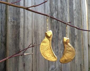 Maple Seed Pod Earrings