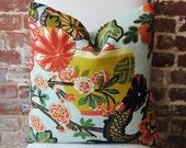 Chiang Mai Dragon - Aquamarine - Schumacher - Pattern placement No.1 - Pillow Cover - 20 in square - Designer Pillow - Decorative Pillow