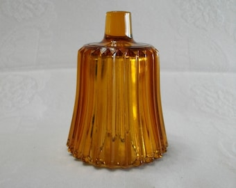 Home Interiors Vintage Amber Glass Ribbed Candle Cup for a Candle Holder