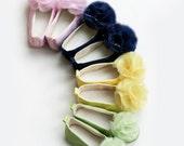 Flower Girl Satin Shoe, Pastel Baby & Toddler Ballet Slipper Easter Ballet Flat, Spring Wedding Shoe, Special Occasion, Baby Souls Baby Shoe