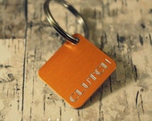 Custom Engraved Square Anodized Aluminum Pet Tag - Includes Engraving