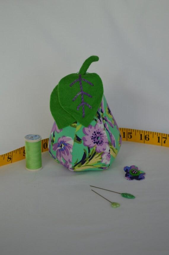 Pear Pin Cushion-Purple and Green