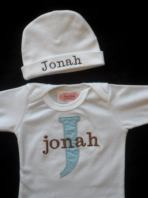 Personalized Baby Boy Clothes Monogram Bodysuit