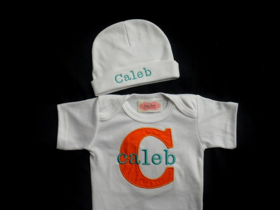 Monogram baby boy clothes personalized baby boy take home monogram baby boy clothes personalized baby boy take home outfit personalized beanie hat gift set negle Images
