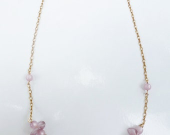Vintage Lilac and Gold Necklace