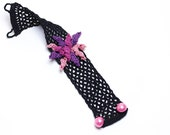 50% OFF Bracelet-Handmade Crochet Bracelet,Bohemian Style Cuff,Crochet Cuff Bracelet,Statement Bracelet,Fiber Art Jewelry