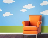 Cloud Wall Stencils for Baby Nursery or Kids Room (stl1013)