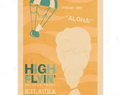 High Flyin' - 12x18 Retro Hawaii Travel Print