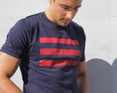Blue t-shirt for men. Naval Flag Graphic Print