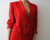 Vintage 80s Red Classic Jacket