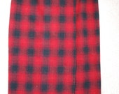 plaid skirt Ralph Lauren Country red and black blanket stitched