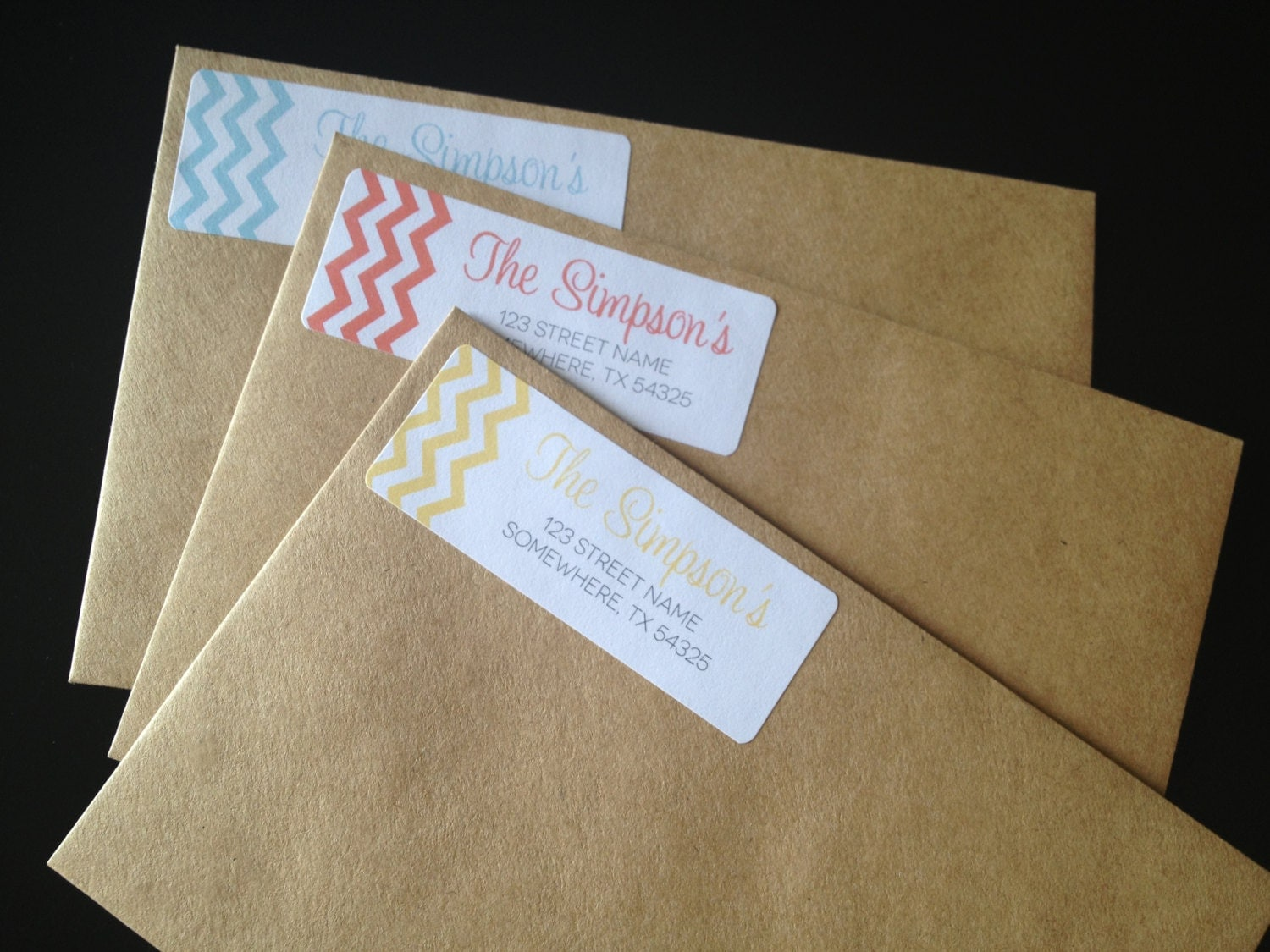 Labels: Chevron Return Address Labels