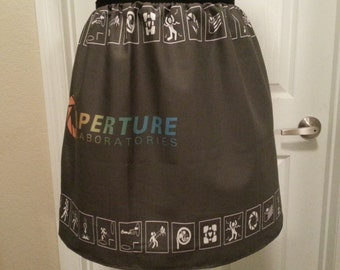 Warning Signs full skirt - made to order