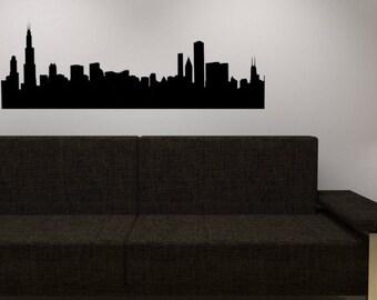 Chicago Skyline wall decal  - Vinyl wall sticker decal - Chicago wall vinyl