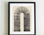 "SALE 50% off - use coupon code SALE50 . Original Etching . Minimalist . Architectural : ""Vault"" . Print Size 14"" x 18"" . Unframed"