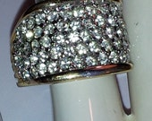 Vintage Ladies Blanco High Fashion Pave Approximate 3cttw CZ Size 10 Ring New Made In USA