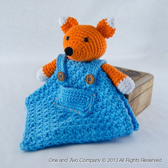 Instant Download - PDF Crochet Pattern - Fox Security Blanket  - Text instructions and SYMBOL Chart instructions