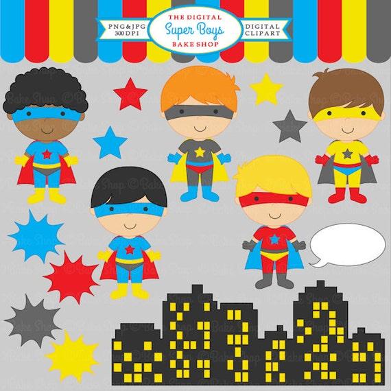 superhero clipart digital clip art super hero by ...