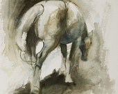 Original Watercolor Horse...