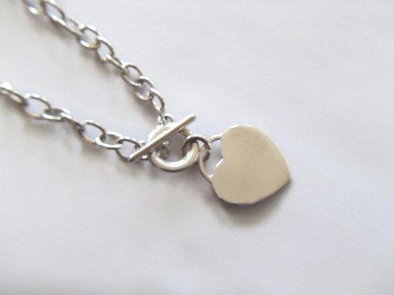 SALE Heart Charm Bracelet - Sterling Silver Jewelry - Wedding Jewelry - Custom Jewelry