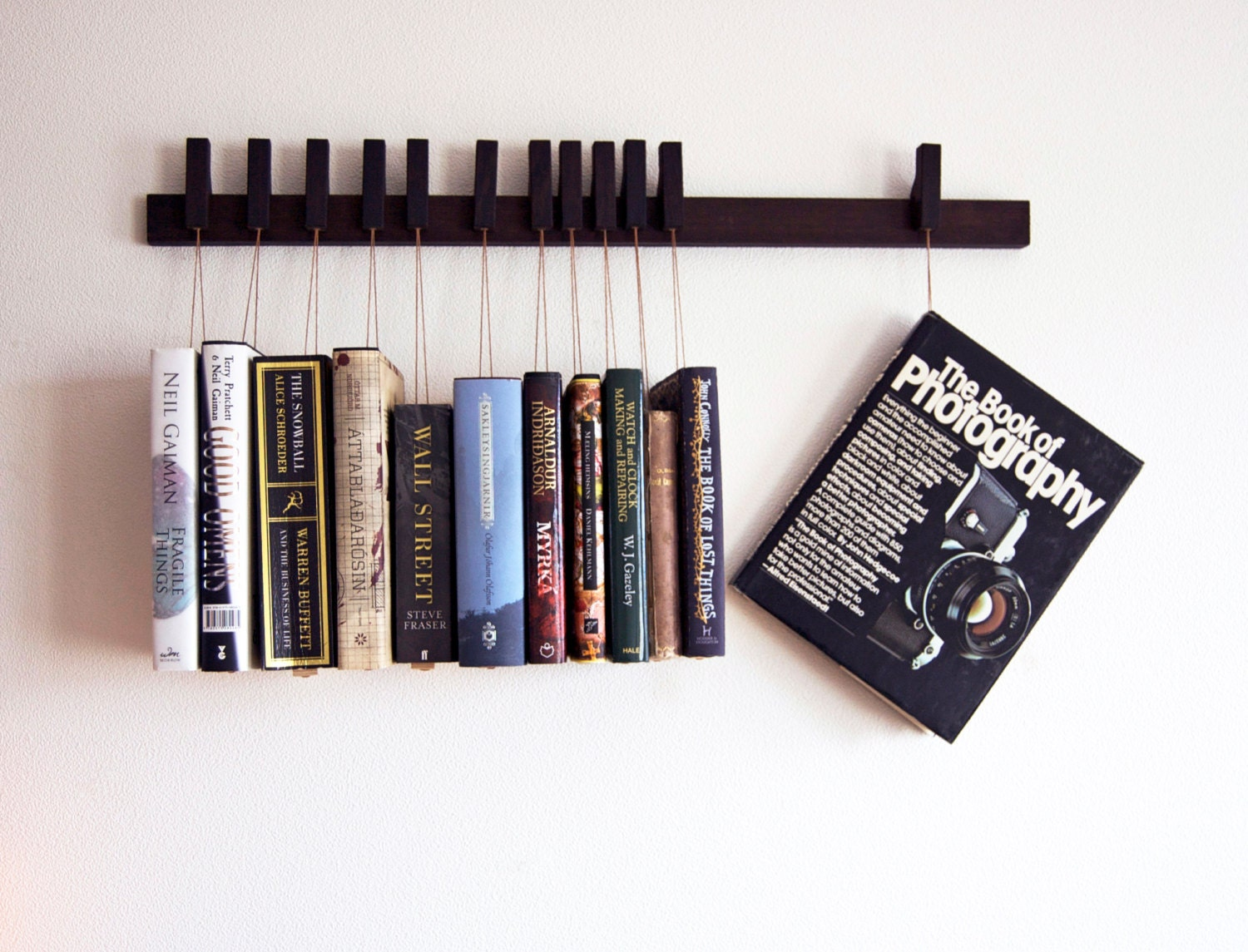 custom made wooden book rack bookshelf in wenge pins also