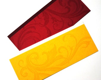 "Bookmark Set - Red and Yellow Swirls: ""Red and Gold"""