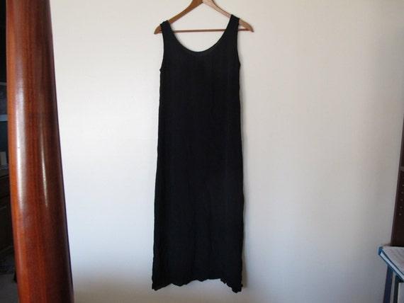 sheer black tank maxi dress long coverup sleeveless maxi dress 70s boho S M