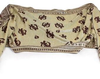 Gye Nyame scarf: Reversible scarf, pashmina scarf, silk scarf, afrocentric scarf