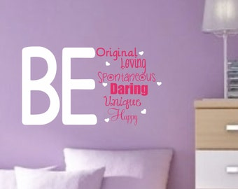 teen wall decal girls bedroom decor vinyl wall saying inspirational quote decal vinyl lettering wall sticker - Teen Wall Decor
